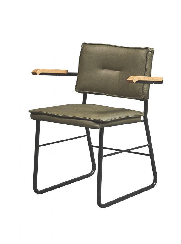 Comfortabele horeca stoel 10021 sledemodel in leder of kunstleder en armleggers (1)