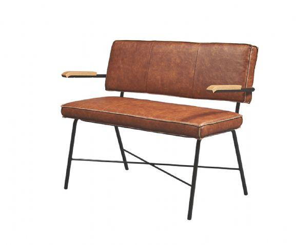 Zitbank 2 zits 4x4 model 10111 met armleggers in kunst of echt leder (1)