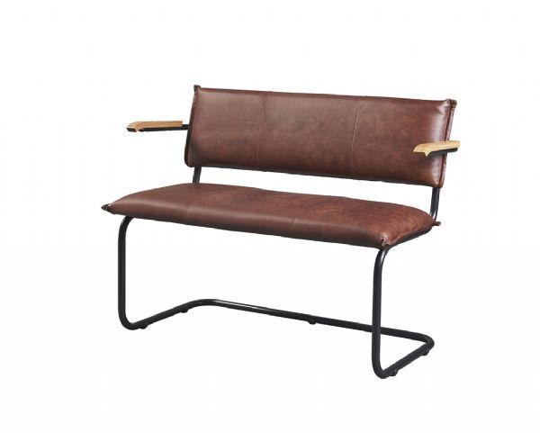 Comfortabele 2-zits bank met armleggers model 10131 in leder of kunstleder (1)
