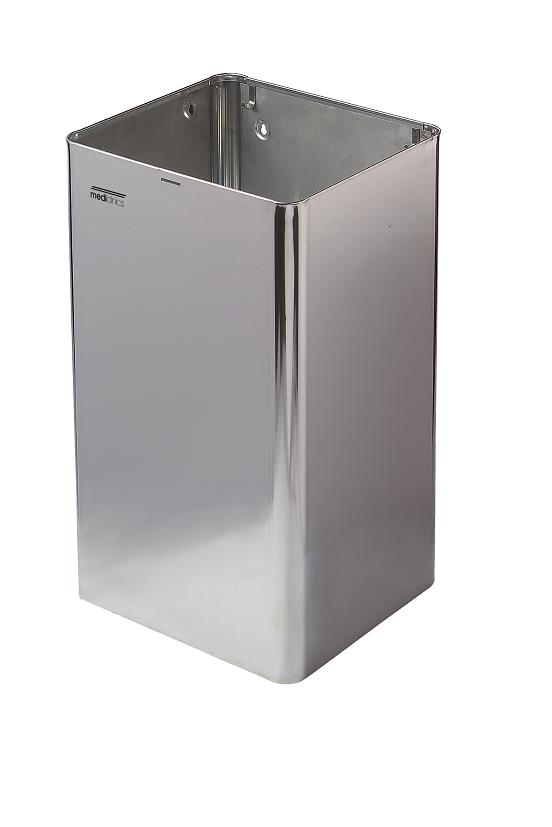 Afvalbak hoogglans RVS 65 liter open model Mediclinics PP1065C?/ topprijs en kwaliteit (1)
