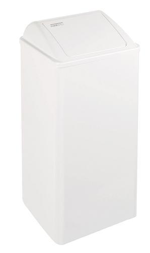 80 liter afvalbak wit staal Mediclinics PP0080 voor horeca, keuken, zorginstelling en ziekenhuis (1)