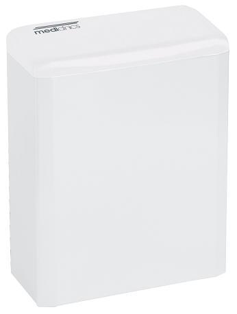 Hygiene afvalbak 6 liter wit Mediclinics PP0006 voor toiletruimten of sanitaire ruimten (1)