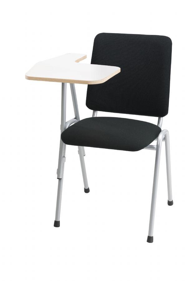 Stoel met klaptafel-schrijftafel voor laptop of tablet gestoffeerd (1)