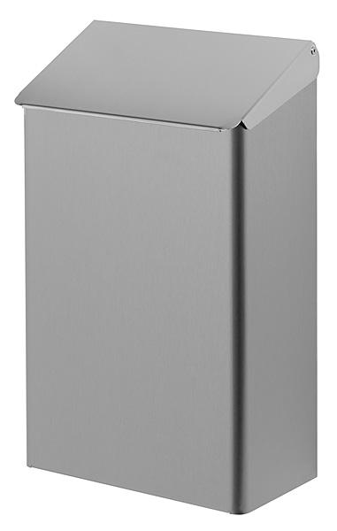 Praktische afvalbak RVS 7 liter DutchBins 13052 voor toilet of sanitaire omgeving (1)