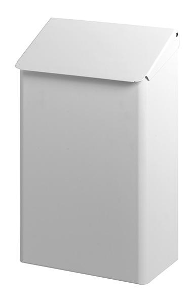 Handige metalen afvalbak wit, Dutch Bins ACWB7EP voor wandmontage (1)