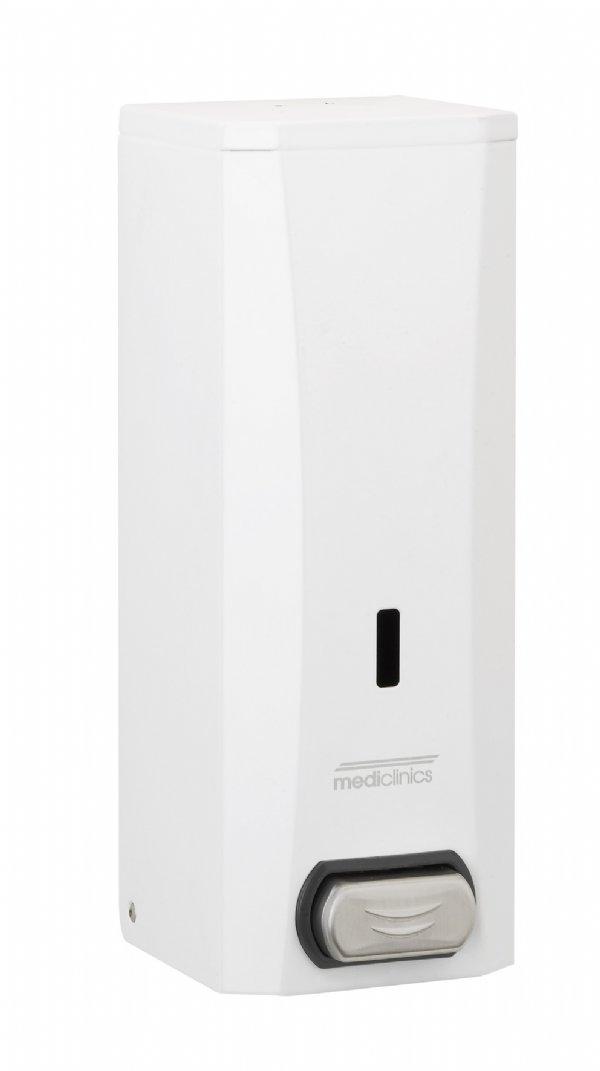 Zeepdispenser Mediclinics 1500ml wit staal DJ0040 voor vloeibare zepen en lotions (1)