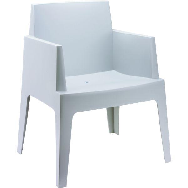 Designstoel Box lichtgrijs