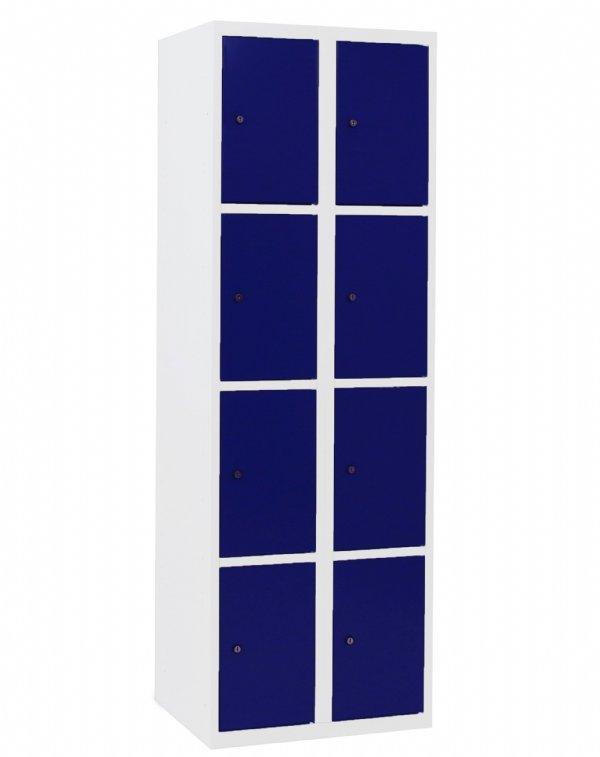 Lockerkast 180x60x50cm met 8 vakken leverbaar in vele RAL kleuren (1)