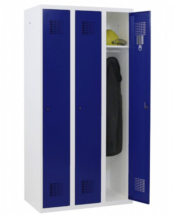 Classic garderobekast 3 deurs met perfo sleuven 180x90x50cm (HxBxD) in meerder RAL kleuren leverbaar (1)