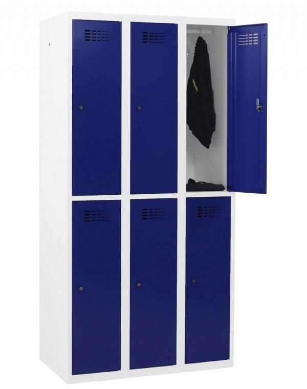 Garderobekast Classic 6 halve afdelingen 180x90x50cm voor opbergen van persoonlijke spullen als kleding (1)