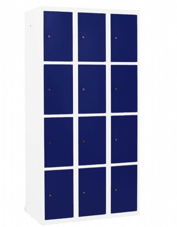 Classic Lockerkast kolombreedte 30cm en 12 vakken en deuren. Keuze uit vele Ral kleuren zonder meerprijs. (1)