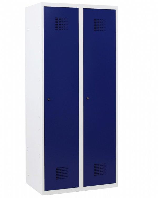 De Classic Garderobekast 2 deurs en 180x80x50cm met legplank en kledingroede (1)