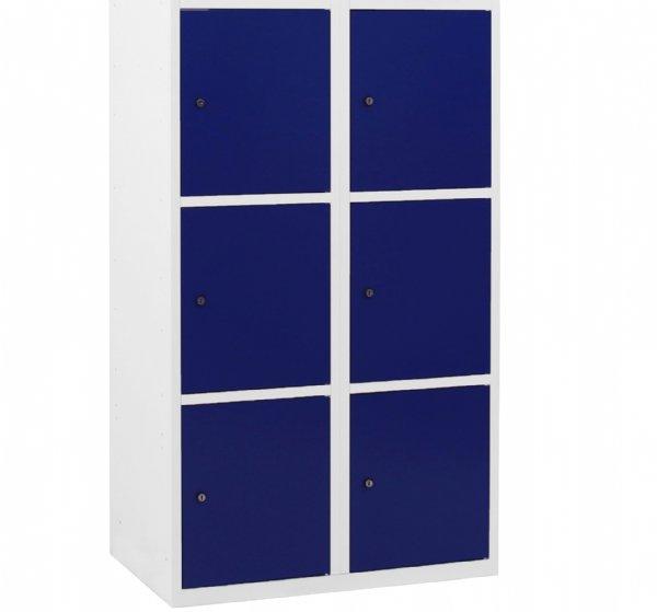 Lockerkast 6 vakken 180x80x50cm ( HxBxD ) kolombreedte 40cm voor veilig opbergen van persoonlijke eigendommen (1)