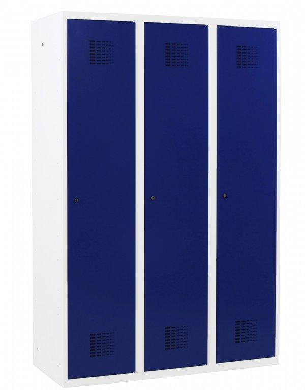 3 deurs Garderobekast kolom breedte 400mm afmeting 180x120x50cm voor bedrijven en instellingen (1)