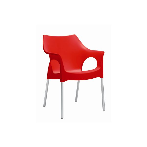 Ola designstoel rood 2122