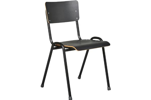 Kantinestoel Basic model 3302 met houten zit en rug met CPL (1)