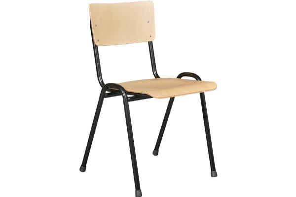 Kantinestoel PURE model 3306 beuken zit en rug en stapelbaar (1)