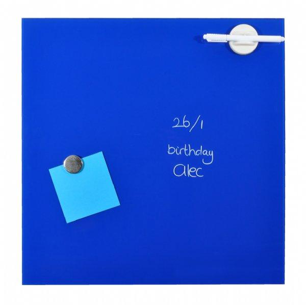 Desq magnetisch glasbord blauw, 45x45cm, 4252.06 voor thuis of kantoorgebruik (1)