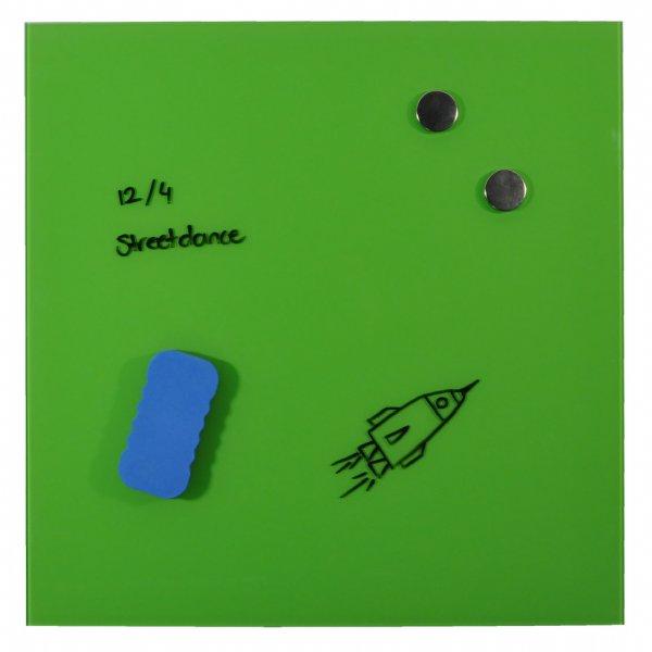 Desq magnetisch glasbord lime green, 45x45cm 4252.15 / lekker vrolijk kleurtje (1)