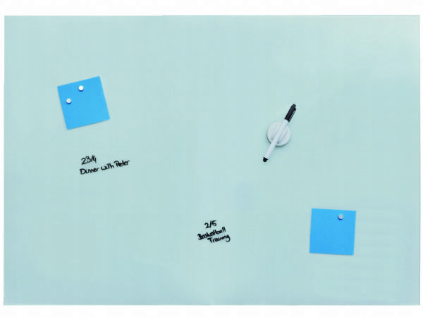 Desq magnetisch glasbord wit, 90x120 cm 4264.01 / extra groot glasbord (1)