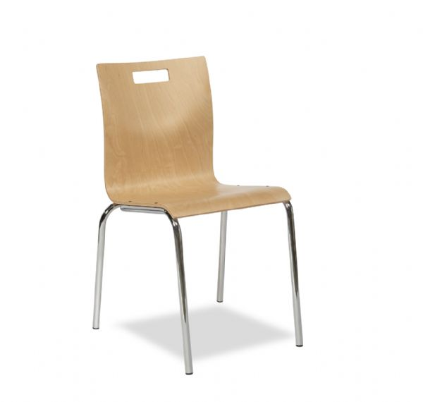 Kantinestoel Style 4450 beuken 4 poot goedkope en sterke kantine stoel (1)