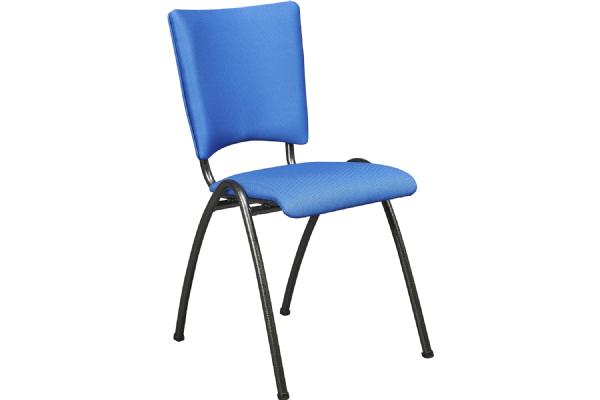 Bezoekersstoel STYLE 5512 gestoffeerd rug en zitting stapelbaar (1)