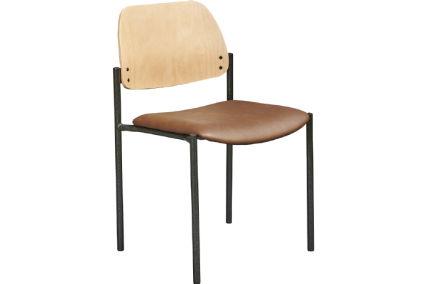Vergaderstoel LEAN 5554 met gestoffeerde zitting en beuken rug (1)