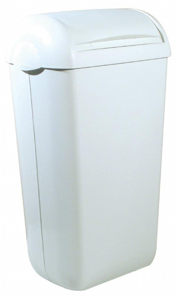 Voordelige hygiëne afvalbak kunststof wit 23 liter PlastiQline PQH23 voor keuken of kantine (1)