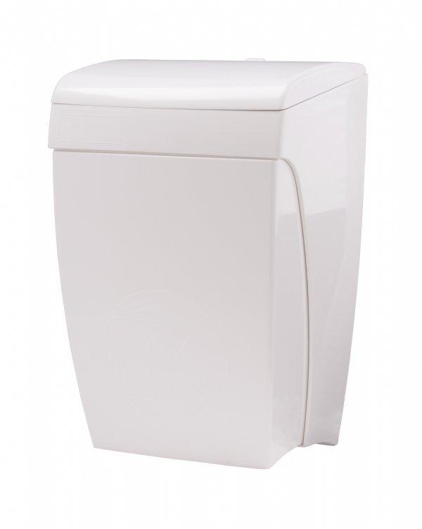 Voordelige sanitaire afvalbak kunststof wit PlastiQline PQKBS met handige kniebediening (1)