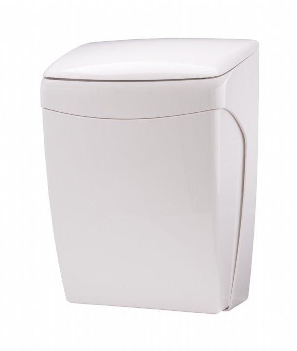 PLastiQline afvalbak wit kunststof 20 liter PQKBL voorzien van kniebediening voor optimale  hygiëne (1)