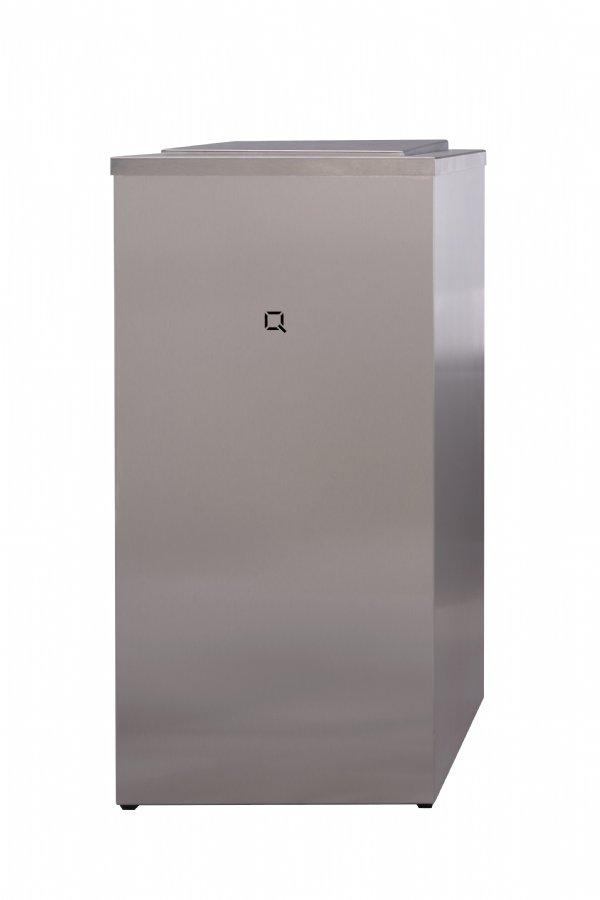 Professionele afvalbak RVS 85 liter Qbic-line QWBC85SSL voor horeca, sanitaire ruimten en keukens (1)