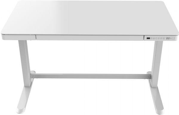 Thuiswerkplek wit-wit glas KaKo zit-sta elektrisch in hoogte verstelbaar afmeting 60,2cmx120,2cm (1)