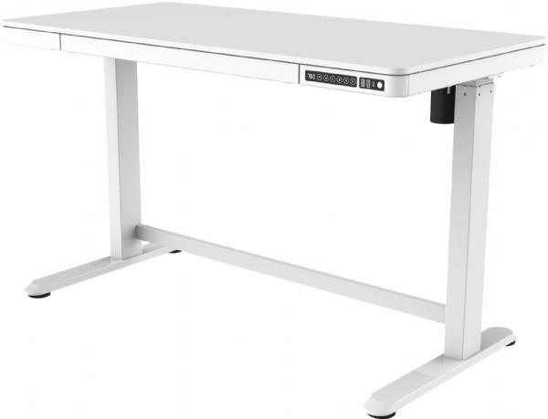 Thuiswerkplek wit-wit kunststof blad KaKo zit-sta elektrisch in hoogte verstelbaar afmeting 60,2cmx120,2cm (1)