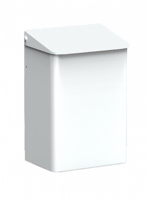 Hygiënische afvalbak MediQo-line aluminium wit MQWB6P voor voedselindustrie, ziekenhuizen en laboratorium (1)