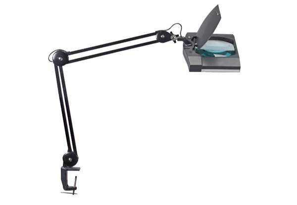 Maul loeplamp maulvitrum zwart, met tafelklem 8264090 / voor precisiewerk (1)