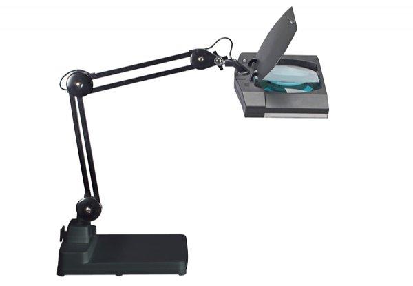 Maul loeplamp maulvitrum zwart met voet  8264190 / precisie bureaulamp (1)