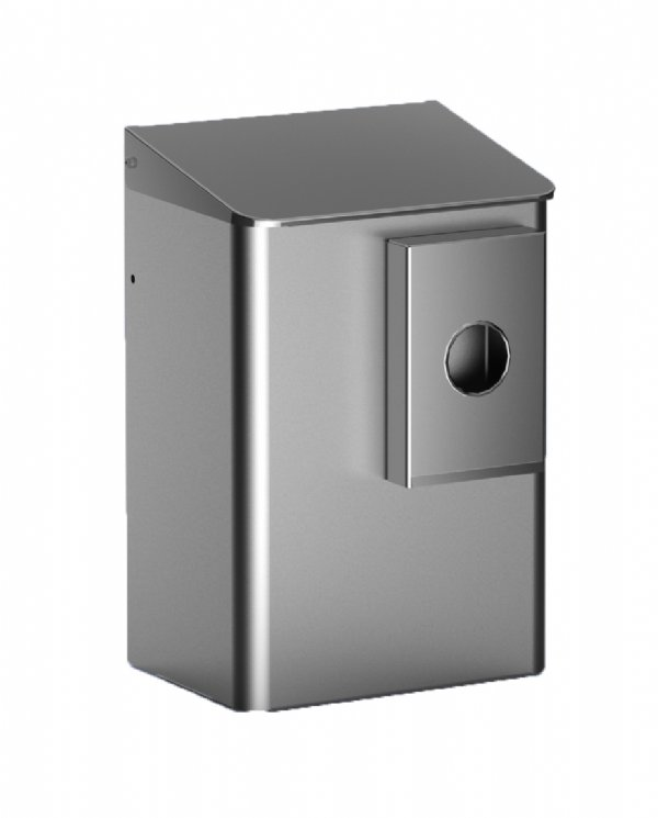 Toilet hygiëne afvalbak RVS 6 liter met zakjeshouder MediQo-line MQWB6HBKE (1)