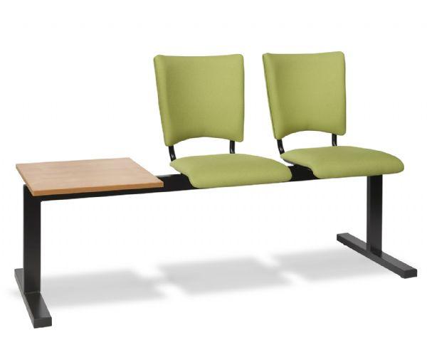 Zitbank 2-zits met tafelblad model Solid 8815 gestoffeerde zitting en rug (1)