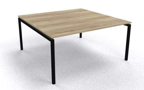 Vergadertafel 160x160cm Arca 4-poot vaste hoogte voor 8 pers. (1)