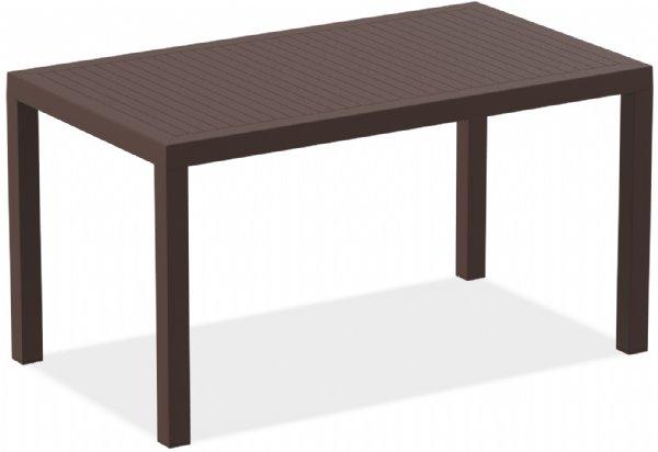 Tuintafel Ares 140x80cm bruin voor buitenterras, restaurant of horecaplein (1)