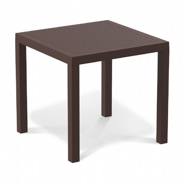 Terrastafel 80x80cm Ares bruin van Siesta voor tuin, terras, zithoek of kantine (1)