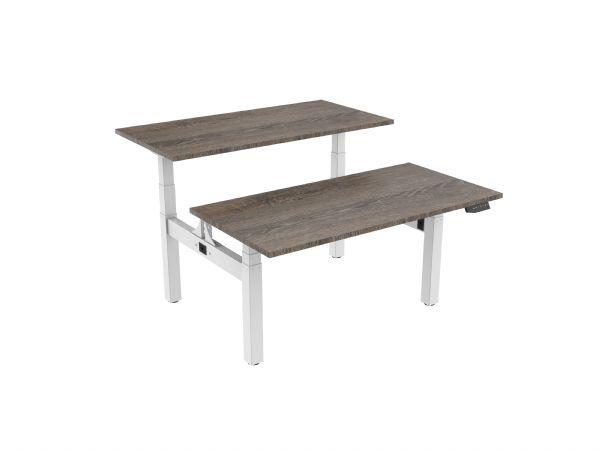 Duo werplek Bench M180-duo 2 x 180x80cm voor zitten en staand werken (1)
