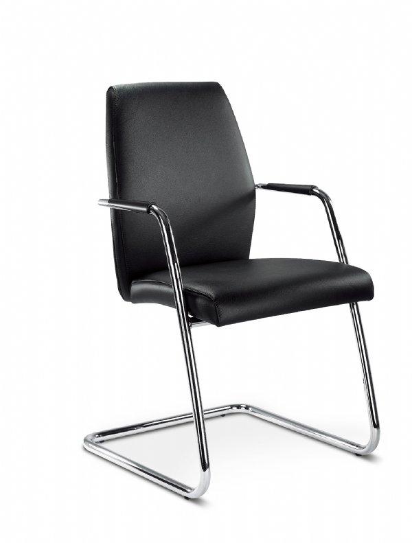 Comfortabele vergaderstoel Passepartout high back met armleggers voor elke vergaderruimten en spreekkamer (1)