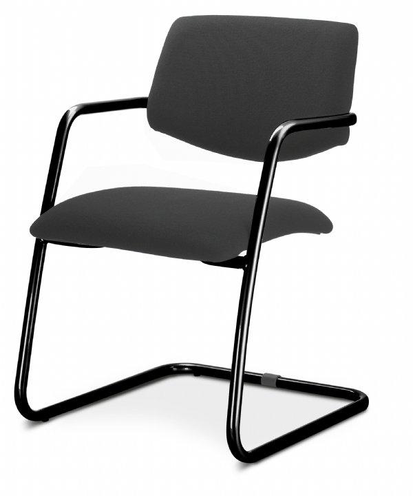 Vergaderstoel Uni medium back sledemodel met armleggers voordelig en comfortable zit (1)