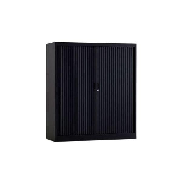Roldeurkast 135x120cm ral 9005 zwart chs135-120