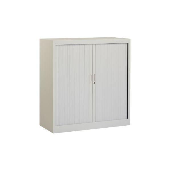Roldeurkast 105x100cm ral 7035 grijs chs 105-100