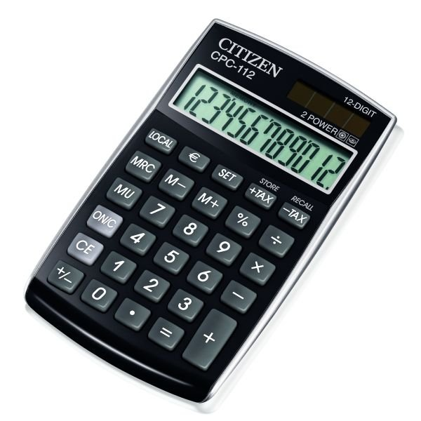 Citizen zakrekenmachine basic+, zwart CPC112BK (1)