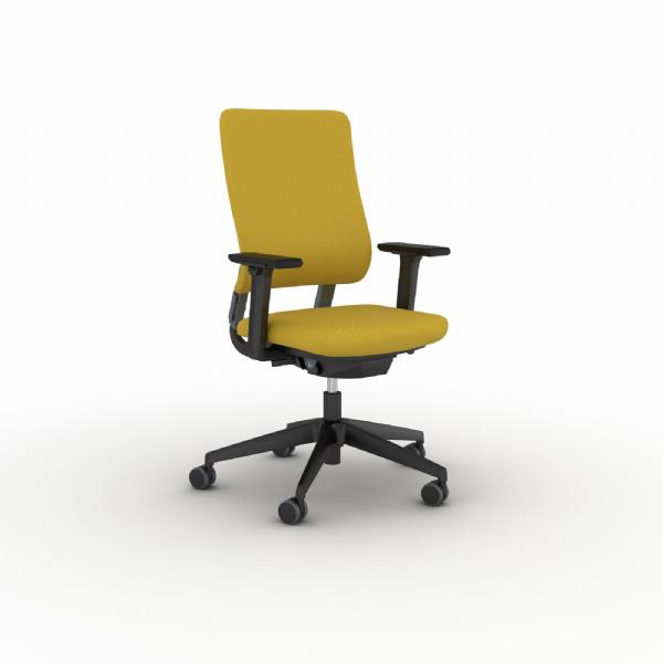 Voordelige kantoorstoel Drumback staalgrijs rugleuning met vele instelmogelijkheden (1)