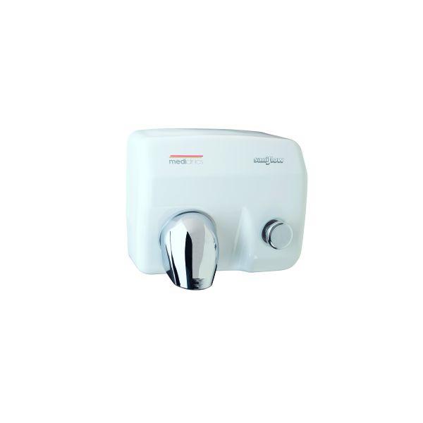 Handendroger Saniflow E88 drukknop Mediclinics