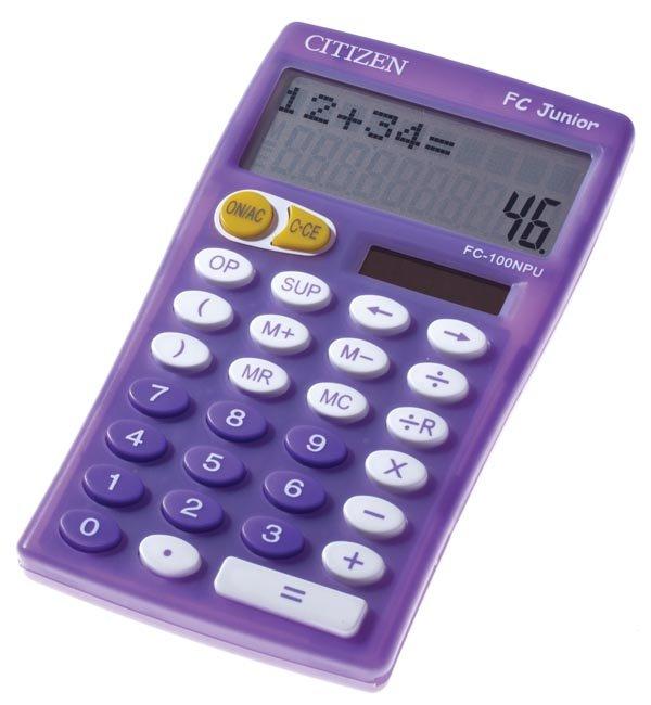 Citizen junior rekenmachine paars FC100PUBX (1)